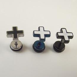 20pcs Free Shipping Stainless Steel Screw Stud Earrings For Men Women Ear Nail Ear Stud Piercing Body Jewelry
