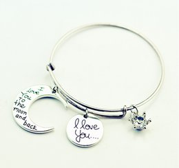 Wholesale New Alex and ani trade hot i love you to the moon and back pendants bracelets