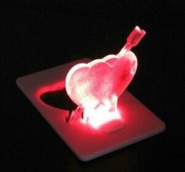 Wholesale alex Portable Pocket LED Card Light Lamp put in Purse Wallet cartoon Stone mandrel