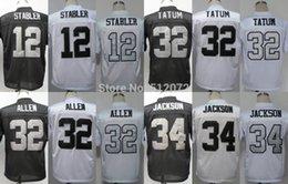 Wholesale Factory Outlet Men s Authentic Throwback Ken Stabler Jack Tatum Marcus Allen Bo Jackson Football Jersey