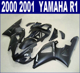 Customize motorcycle fairings set for YAMAHA 2000 2001 YZF R1 all matte black fairing kit YZF1000 00 01 RQ11 + 7 gifts