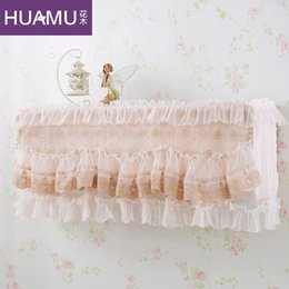 Wholesale Korean flowers embroidered lace air conditioned enclosure Continental all inclusive air conditioning units Wall hook cover p