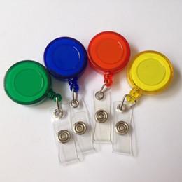 2000 random color Plastic Reels Retractable for ID Card Badge Holder YOYO Solid