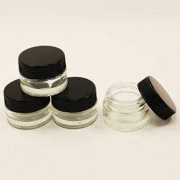 Wholesale E cig Shatter bho extraction ml glass wax containers for dab vaporizer glass storage jar containers clear glass cosmetic jars