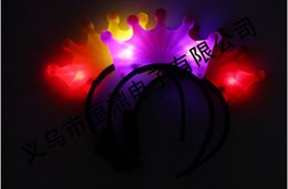 crown LED head band decoration christmas carnival festival holiday supplies party