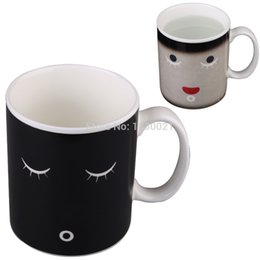 Wholesale 2016 new hot sell Moring Magic Heat Sensitive Mug Porcelain Cup Water Color Changing Best Price