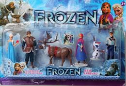 Descuento películas de acción 2015 Nueva Frozen Anna Elsa Hans Kristoff Sven Olaf PVC Acción llegada Figuras Juguetes Coleccionismo Musical muñecas de la historieta del Anime Películas de goodememory
