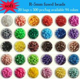 Wholesale 20 bags x bag R mm ARTKAL soft fused beads kids educational toys beading kits hama perler beads P1001 RB500x20