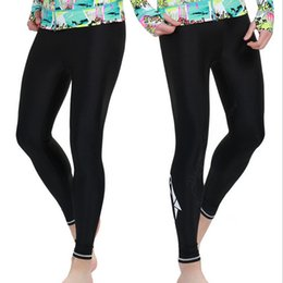 Wholesale-Black Leggings Summer Mens Windsurfs Sailing Long Bodybuilding Trunks Size S-XXXL Sbart UPF 50 Lycra Rash Swimming Pant #004