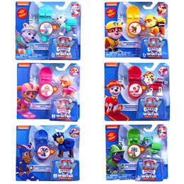 Wholesale 6pcs Puppy Patrol Dog Winter Snowboard Figures Toys quot Puppy Dog Annie Figures Movie Cute Puppy patrol PVC Toys Retail Packing
