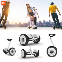 Wholesale Best original Xiaomi Ninebot balancing Scooter Two Unicycle Wheels Smart System Phone APP Alloy body LED Lights FREESHIPPING FREE TAX TO EU