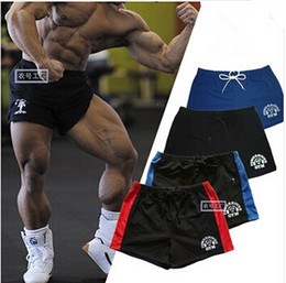 Men Gym Shorts Brand Gold Powerhouse Fitness Bodybuilding Workout Sports 100% Cotton Running Training Shorts M-XXL