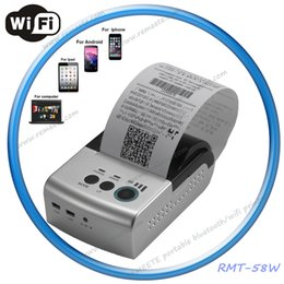 Wholesale Mini mm Pocket Portable WIFI Printer Battery Powered Thermal Receipt Printer Support Window Computer Andriod iOS Mobile
