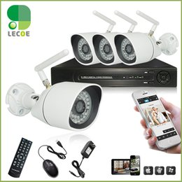 4CH CCTV Surveillance NVR System Kit with 4pcs 720P Outdoor Waterptoof Security Network Wireless WIFI Cameras