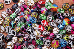 JACK88 Hot Wholesale Mix Styles Snaps 100pcs Glass Ginger Snap Jewelry 18mm Round Snap Button Charm Bracelet Jewelry N005