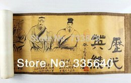 Wholesale Antique calligraphy painting murals painted nave painting decorative painting calligraphy silk scroll painting of ancient Aviva