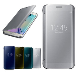 Wholesale Mirror Flip Smart Leather Case Cover for Samsung Galaxy S6 Edge S6 g9200 Store