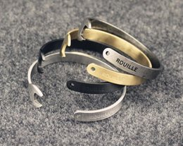 Wholesale NEW Men and Women s Vintage ROUILLE opening of wrench bracelet alloy bracelet Wedding jewelry best gifts CC15