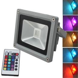 Outdoor LED Floodlight 10W 20W 30W 50W RGB Led Flood Light Colour Changing Wall Flood Lamp IP65 Waterproof+24key IR Remote Control