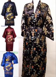 Wholesale Men s Robes Nightgown Oriental Soft Made In China Pajama Baths Robe Satin Loose Sleepwear
