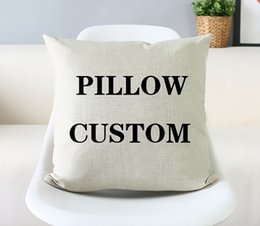 Wholesale-Custom pillow cover customized Pillow Cushion linen Cotton pillow velvet cover decorate pillow cover free shipping
