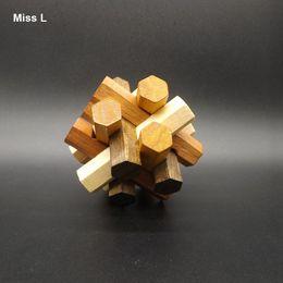 Hexagonal Twelve Battens Kongming Lock Grown Up Toys Funny Game Kids Educational Prop Teaching Toy Gift