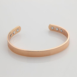 Wholesale Rose gold plated BRACELET ARTHRITIS RELIEF Bangle Bracelet fashion man ladies power magnetic bangles B19