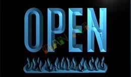 Wholesale LK739 TM OPEN Grill Bar Beer Pub Fire Neon Light Sign Advertising led panel jpg