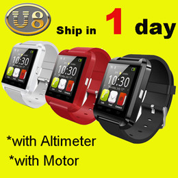 Wholesale Bluetooth Smartwatch U8 U Watch Smart Watch Wrist Watches for iPhone S S Samsung S4 S5 Note Note HTC Android Phone Smartpho OTH014