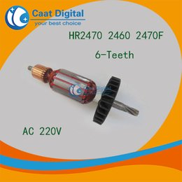 Wholesale AC V Teeth Drive Shaft Electric Hammer Armature Rotor for Makita HR2470 F High quality