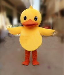 free shipping High quality Yellow duck mascot costume Adult sized Christmas performance clothing