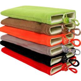 Wholesale 4 inch Double color mobile phone velvet bag Mobile power storage bag mix colour