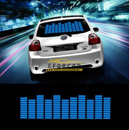 Wholesale Hot Sound Music Beat Activated Car Stickers Equalizer Glow Blue LED Light Audio Voice Rhythm Lamp