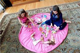 Stockage pour les jouets en Ligne-2015 chaud enfants portables Enfants Infant tapis de jeu pour 150cm de stockage de grands sacs Jouets organisateur Boîtes Blanket Rug facile Livraison gratuite DHL