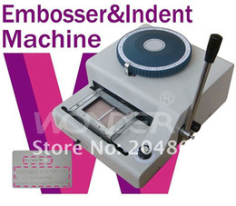 Wholesale Hot sell Manual Embossing Machine magnetic ID PVC Card Embosser