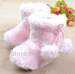 Wholesale-Pink cotton balls baby boots snow boots, baby boots, warm shoes baby shoes