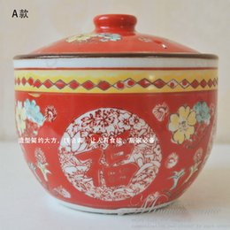 Wholesale Supply Jingdezhen Ceramic handmade pastel oil salt and sugar bowl Chinese antique longevity pot spice jar