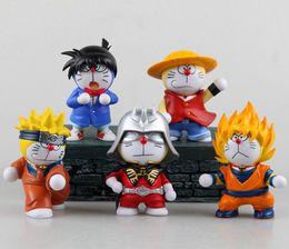 Promotion la figure conan 12cm Doraemon PVC Figurines Cosplay Son Goku Luffy Gundam Uzumaki Naruto Conan Toys Dolls enfants cadeau 201506HX