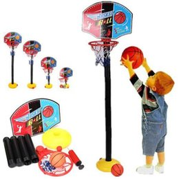 Wholesale Kids Toddler Baby Children Outdoor Sports Train Portable Adjustable Basketball Hoop Toy Set Stand Ball Backboard