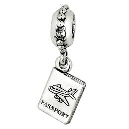 Wholesale Passport Pendant Charm Sterling Silver European Charms Bead Fit Pandora Snake Chain Bracelet Fashion DIY Jewelry