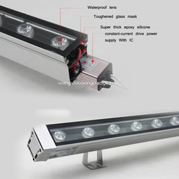 Wholesale-6W LED Wall Wash light lamp Washer bar White Warm Red Green Blue Yellow RGB mixed 86-265V