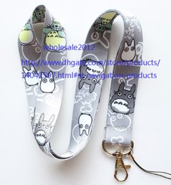 Free shipping Lot 10pcs lot My Neighbor Totoro Mobile Phone lanyard Key chain straps charms Wholesale