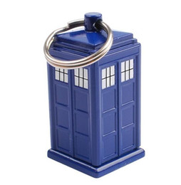 Wholesale Doctor Who Tardis Keychain Emergency Fund Cash Stash and Money Holder Same Day Shipping