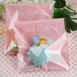 New 10x11cm Angel style Christmas Self-adhesive Gift Packing bag ,Food Cellophane Bag, Cute Biscuit Plastic Bag (300pcs)