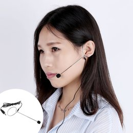 Wholesale Uni Directional Mini Ear hook Headset Microphone Mic for Voice Amplifier Amp Loudspeaker Designed for Use on Stage