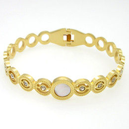 2016New Brand Wholesale Gold&Silver&Rose Gold Round pearl Bracelets & Bangles For Women bracelets bangles titanium