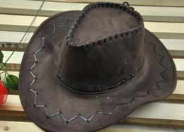 Wholesale fashion fuax leather western cowboy hats retail sun hat womens mens tourist caps for travel men womens outdoor performance hat
