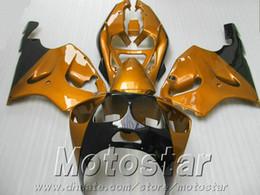 Fairings set for Kawasaki Ninja ZX7R 1996 - 2003 aftermarket ZX 7R 96-02 03 golden black plastic fairing body kit AQ69