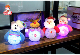 Wholesale 2015 HOT Christmas Decoration Flashing LED Light Christmas Snowman Bear Deer XMAS Santa Claus Hanging Ornament Beautiful Gifts