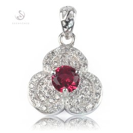Promotion The new listing Noble Generous MN3125 Recommend Red Cubic Zirconia Best Sellers Copper Rhodium Plated Romantic Pendants Trendy